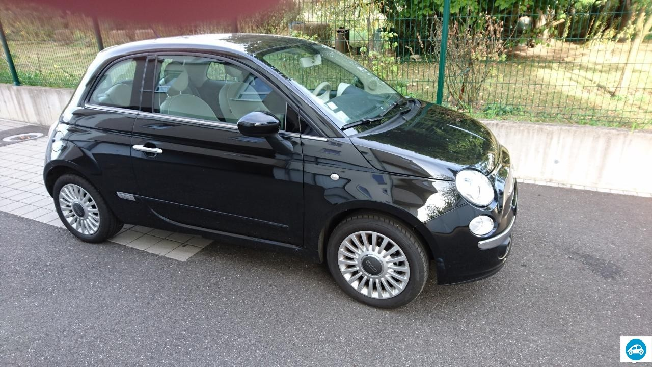 achat fiat 500 lounge 2009 d 39 occasion pas cher 7 500. Black Bedroom Furniture Sets. Home Design Ideas