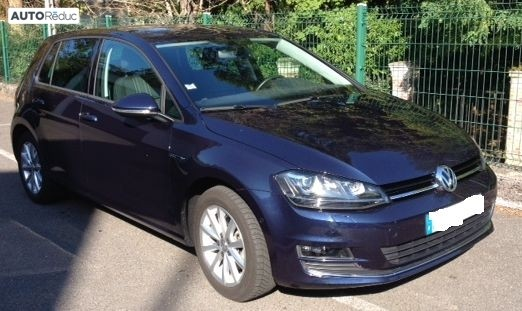 achat volkswagen golf 7 2 0 tdi 150 lounge bluemotion technology 2016 d 39 occasion pas cher 22 700. Black Bedroom Furniture Sets. Home Design Ideas
