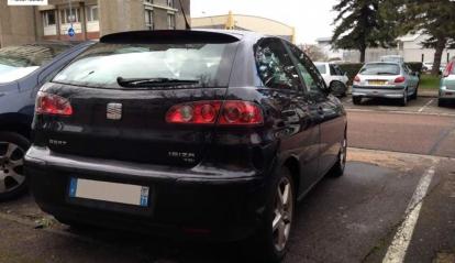 SEAT IBIZA 1.9l TDI 100cv Top Sport 9/2005 Noir 3P