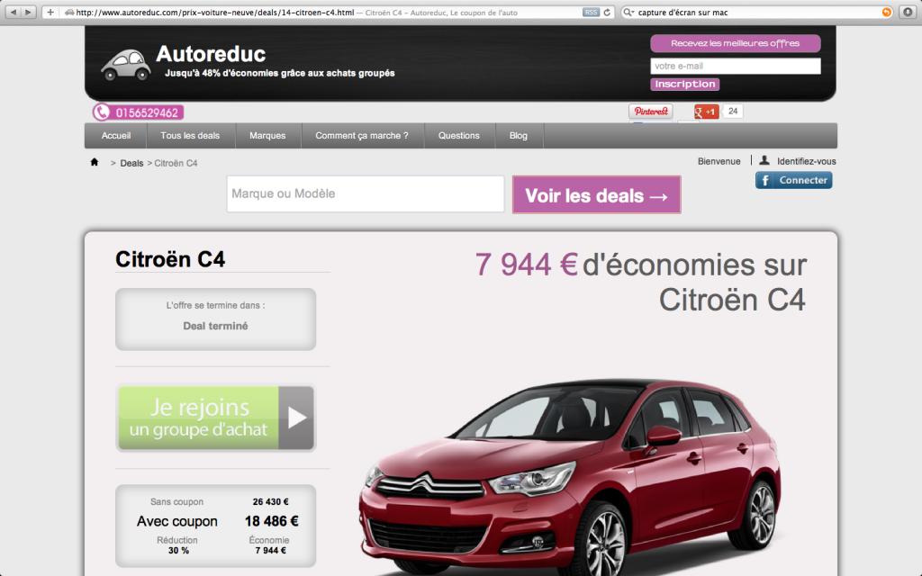 Les meilleurs deals de voitures neuves en 2012