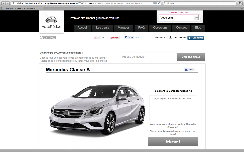 Les prochaines Classe A vendues sur Autoreduc.com auront peut-être déjà le QR Code ;)