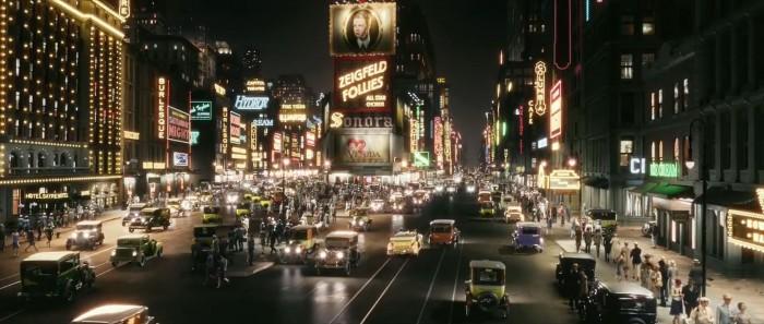 Times Square à l'époque de Gatsby, image du film