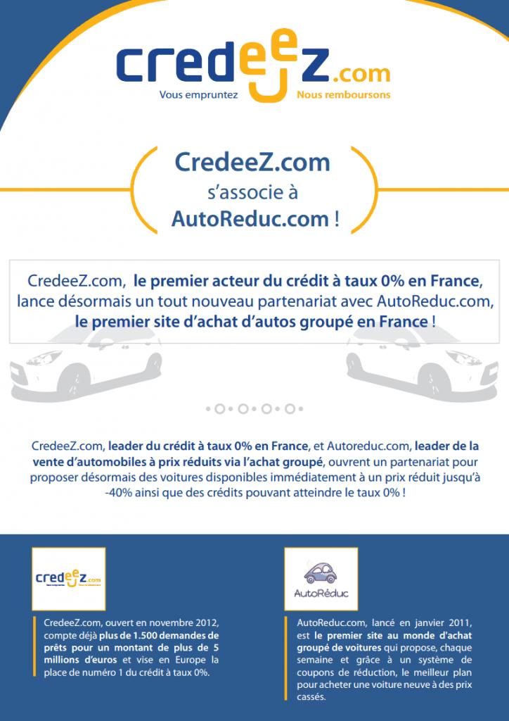 AutoReduc.com s'associe à Credeez.com !-1