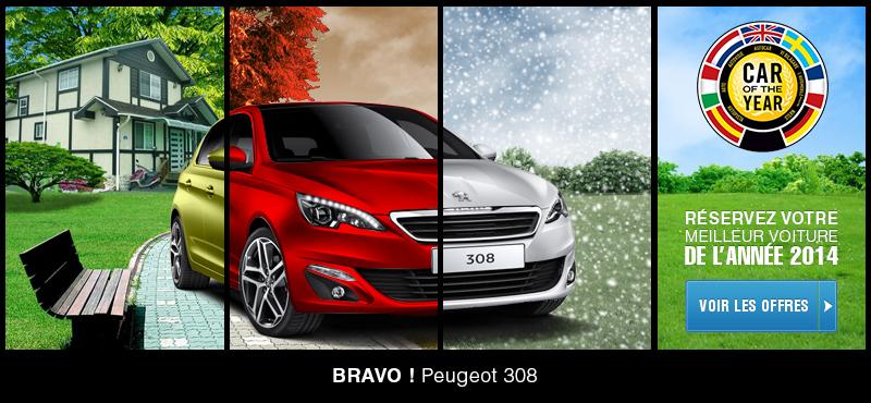 La nouvelle Peugeot 308 élue voiture de l'année !