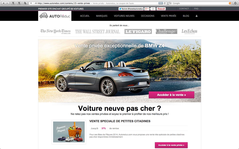 Vente privée de BMW Z4 sur Autoreduc.com