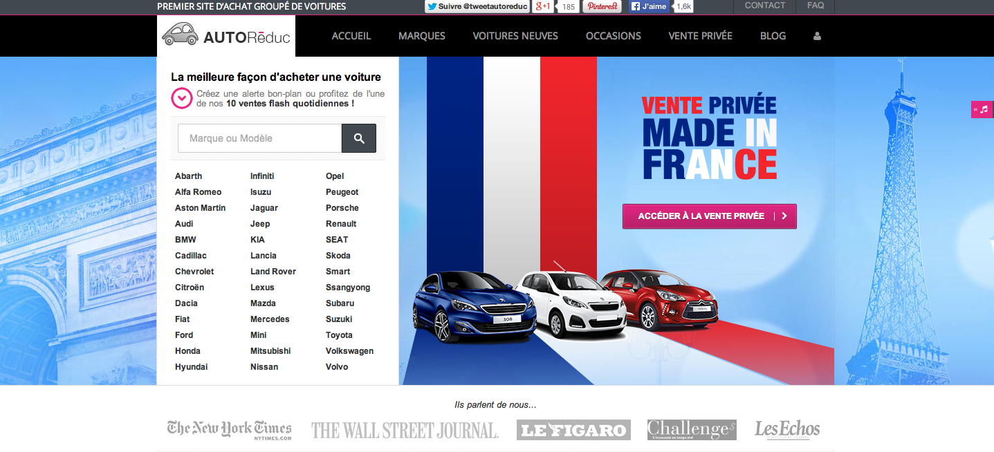 """AutoRéduc organise une vente privée de voitures """"Made in France"""""""