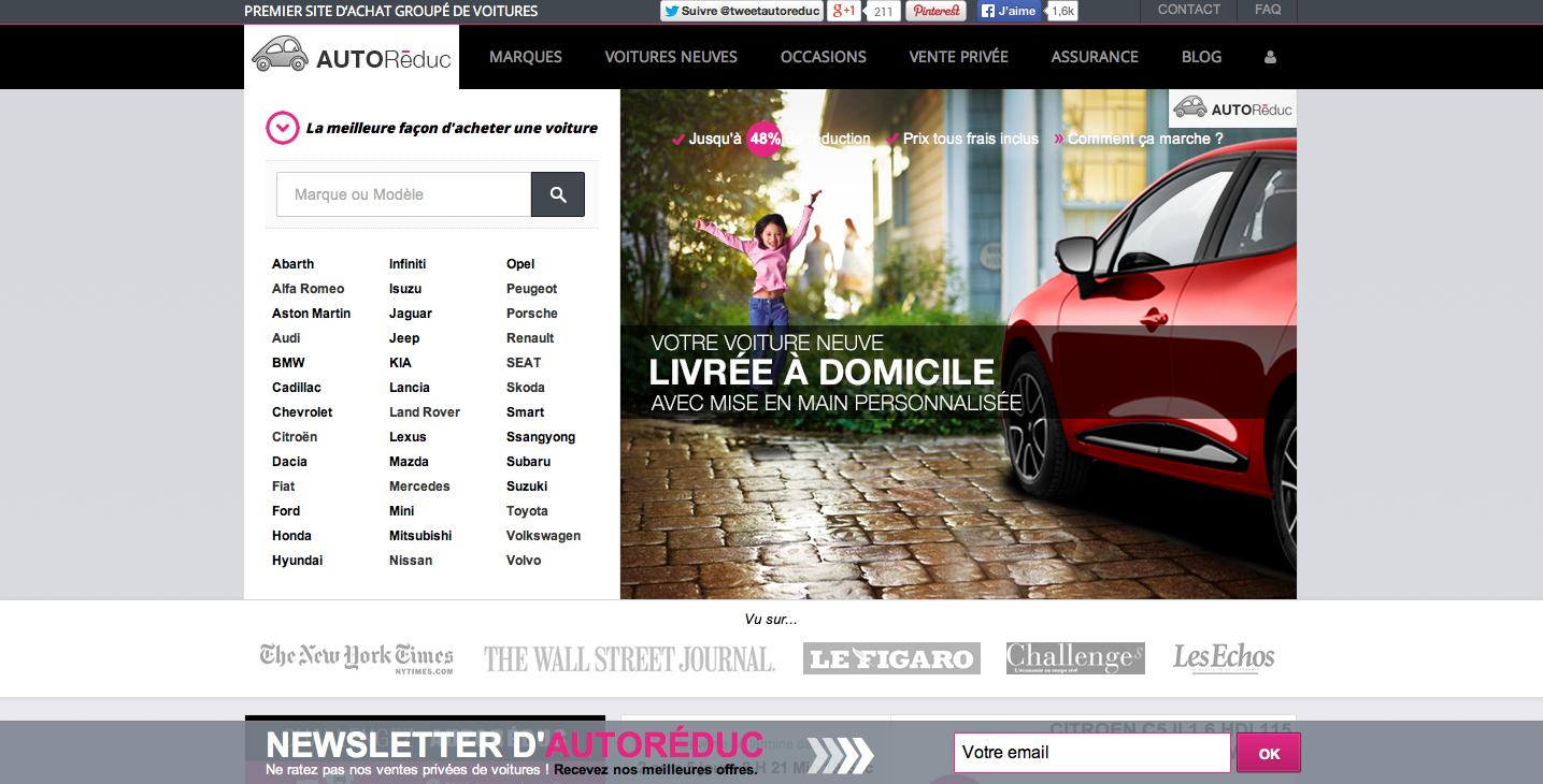 AutoRéduc est le seul site qui permet un achat de voiture 100% en ligne