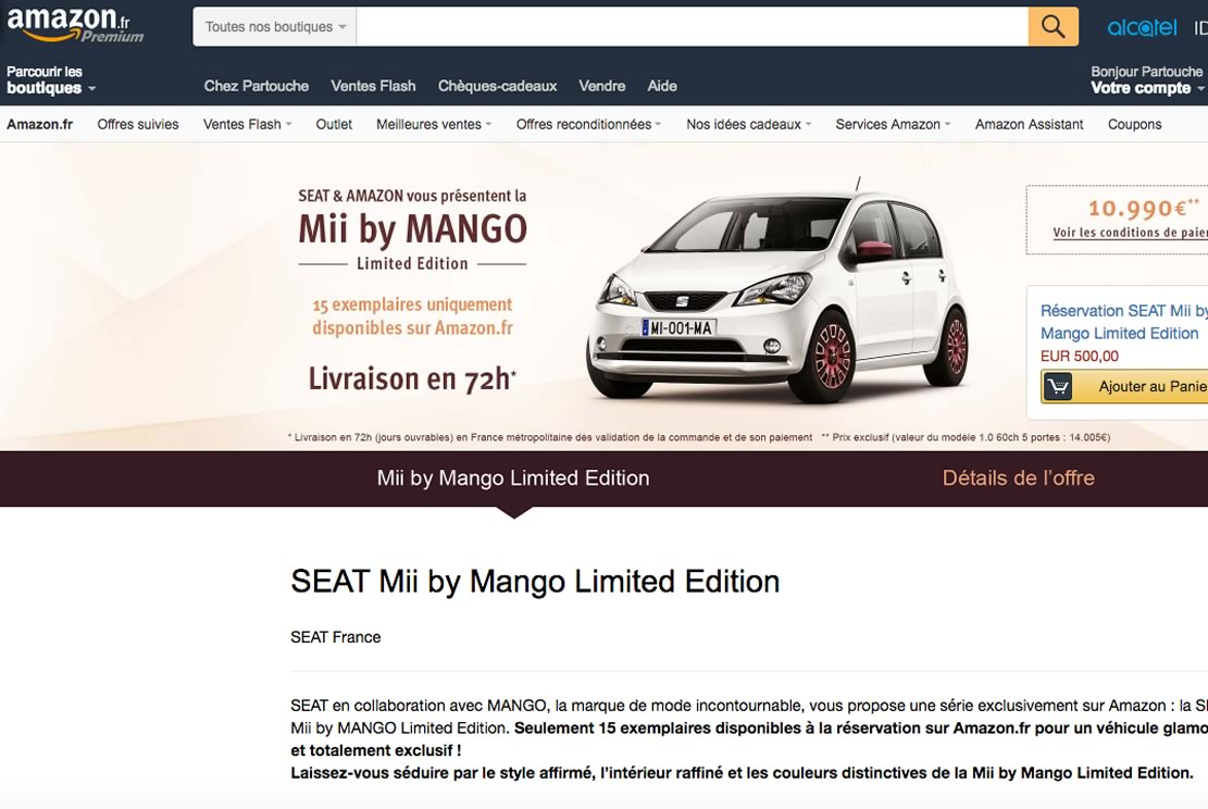 Amazon Voiture