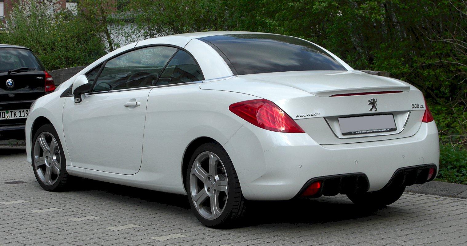 Assurance auto pas chère pour la Peugeot 308 CC